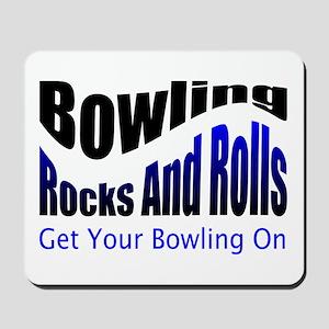 Bowling Rocks And Rolls Mousepad