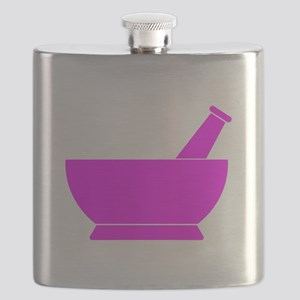Pink Mortar and Pestle Flask