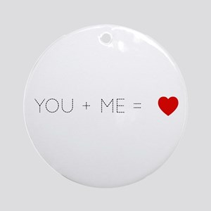 You and Me Ornament (Round)