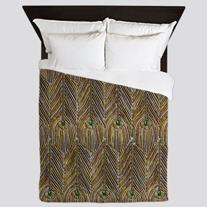 Lady Curzon's Peacock dress Queen Duvet