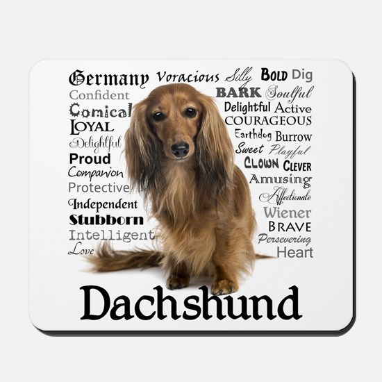 Dachshund Traits Mousepad