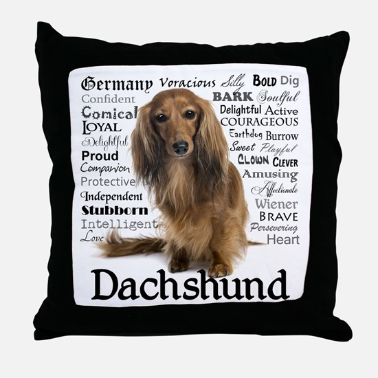 Dachshund Traits Throw Pillow