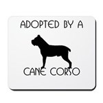 Adopted by a Cane Corso Mousepad