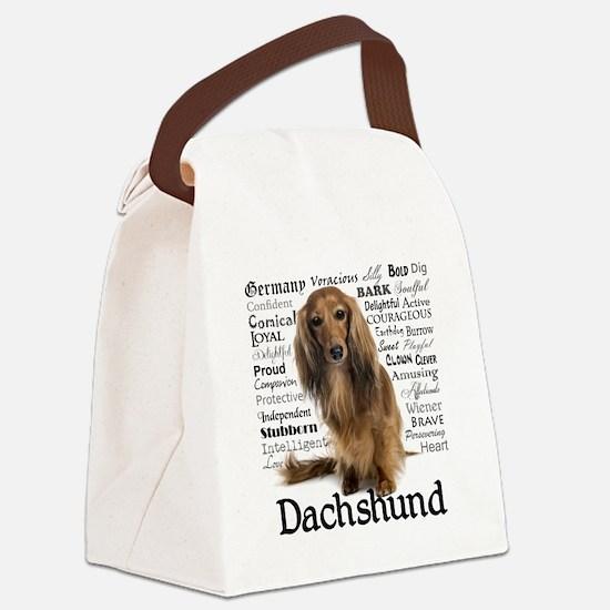Dachshund Traits Canvas Lunch Bag