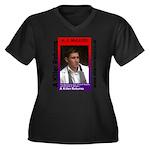 A Killer Ret Women's Plus Size V-Neck Dark T-Shirt
