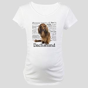 Dachshund Traits Maternity T-Shirt