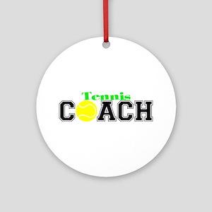 Tennis Coach Ornament (Round)