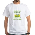 Martinis White T-Shirt