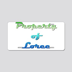 Property Of Loree Female Aluminum License Plate