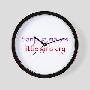 Sanjaya makes girls cry Wall Clock