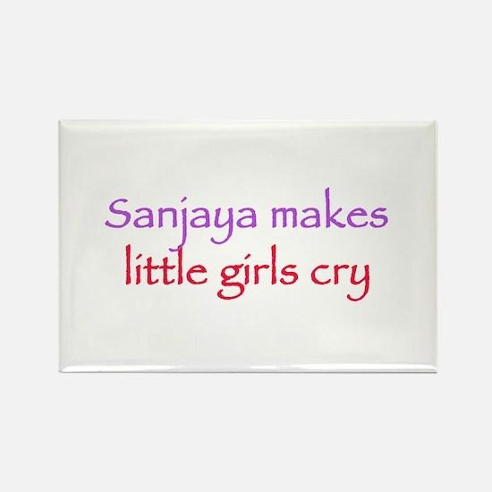 Sanjaya makes girls cry Rectangle Magnet
