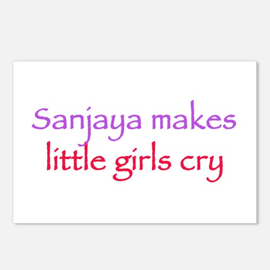Sanjaya makes girls cry Postcards (Package of 8)
