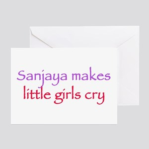 Sanjaya makes girls cry Greeting Cards (Package of