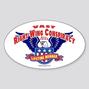 Vast Right-Wing Conspiracy Oval Sticker