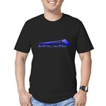 Live to Row - BLUE Men's Fitted T-Shirt (dark)