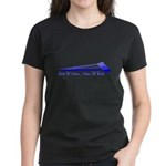 Live to Row - BLUE Women's Dark T-Shirt