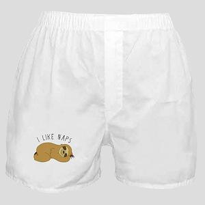 I Like Naps - Napping Sloth Boxer Shorts