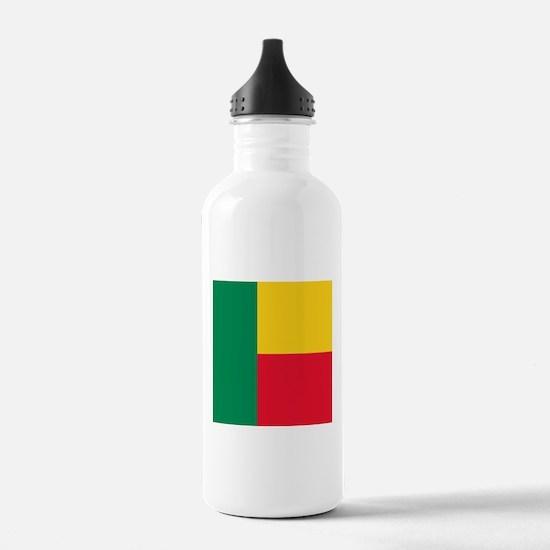 Flag of Benin Sports Water Bottle
