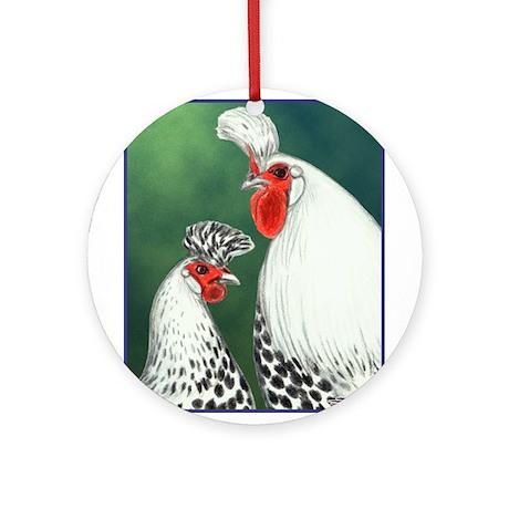 Spitzhauben Pair Ornament (Round)