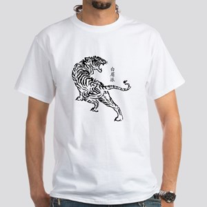 Bak Mei Tiger White T-Shirt