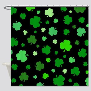 'Irish Shamrocks' Shower Curtain