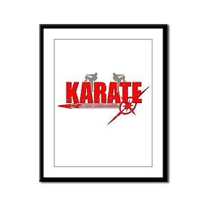 Karate Framed Panel Print