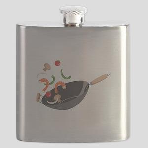 Wok Vegetables Shrimp Flask