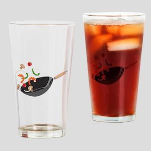 Wok Vegetables Shrimp Drinking Glass