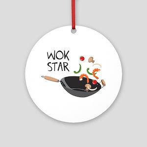 Wok Star Ornament (Round)