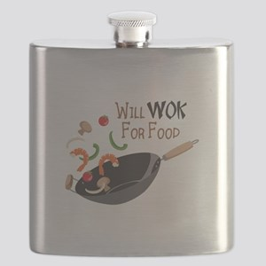 Will Work For Food Flask