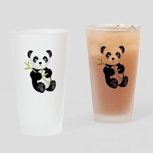 Panda Bear Drinking Glass
