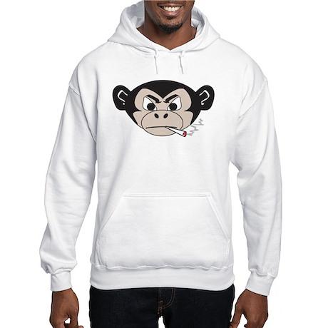 Smoking Monkey Hooded Sweatshirt
