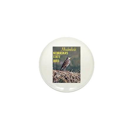 Meadowlark Bird Mini Button