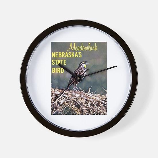 Meadowlark Bird Wall Clock
