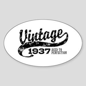 Vintage 1937 Sticker (Oval)