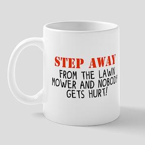 Mowingstepawayfromtehlawnmower Mugs