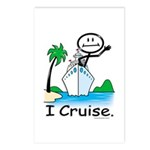 Cruising Stick Figure Postcards (Package of 8)
