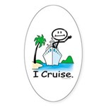 Cruising Stick Figure Sticker