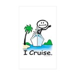 Cruising Stick Figure Sticker