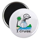 Cruising Stick Figure Magnets