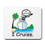 Cruising Stick Figure Mousepad