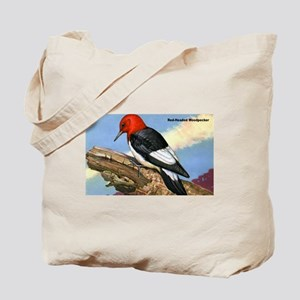 Red-Headed Woodpecker Bird Tote Bag
