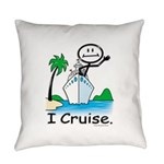 Cruising Stick Figure Everyday Pillow