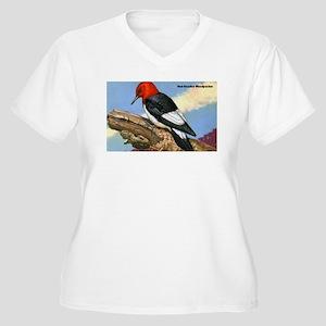 Red-Headed Woodpecker Bird (Front) Women's Plus Si