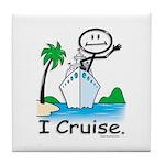Cruising Stick Figure Tile Coaster