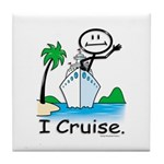 Cruising Stick Figure Tile Coaster