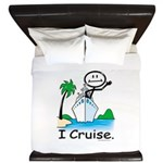 Cruising Stick Figure King Duvet