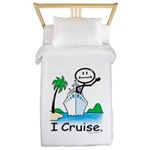 Cruising Stick Figure Twin Duvet Cover