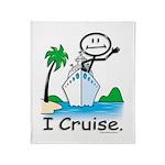 Cruising Stick Figure Throw Blanket