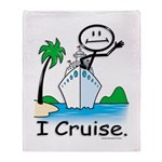 Cruising Stick Figure Throw Blanket